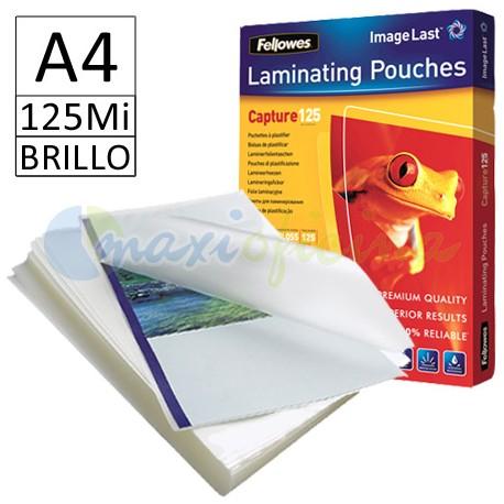 Fundas de Plastificar A4 125 Micras Brillo