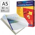 Fundas de Plastificar A5 80 Micras Brillo
