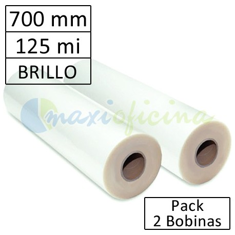 Bobina Plastificadora 125 Micras Brillo 700mm.