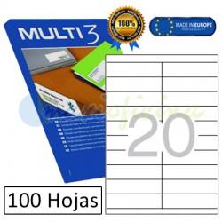 Etiquetas Adhesivas economicas Multi3 105x29mm (10502)
