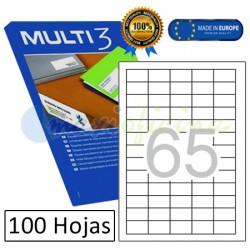 Etiquetas Adhesivas economicas Multi3 38x21,2mm (04716)