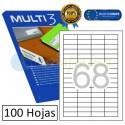 Etiquetas Adhesivas economicas Multi3 48,5x16,9mm (10490)