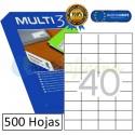 Etiquetas Adhesivas economicas Multi3 52,5x29,7mm (10513)