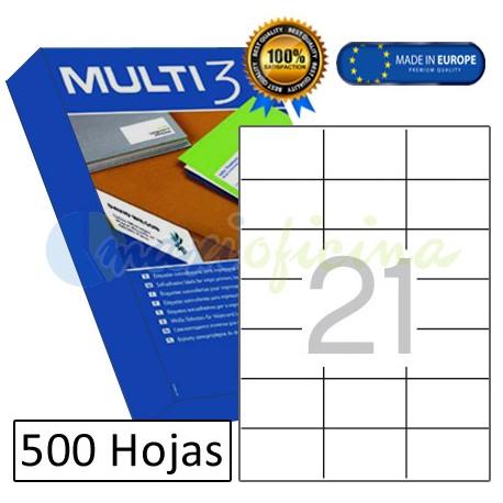 Etiquetas Adhesivas economicas Multi3 70x42,4mm (10519)