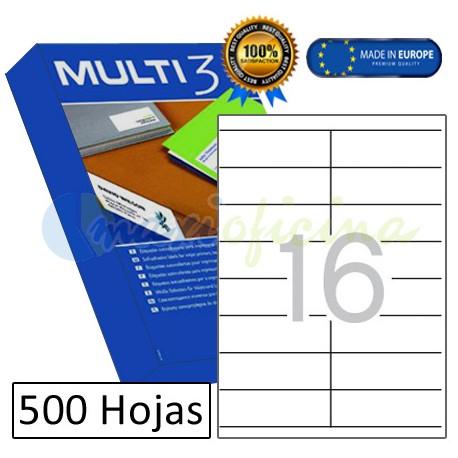 Etiquetas Adhesivas economicas Multi3 105x35mm (10523)