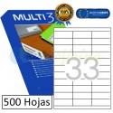 Etiquetas Adhesivas economicas Multi3 70x25,4mm (10515)