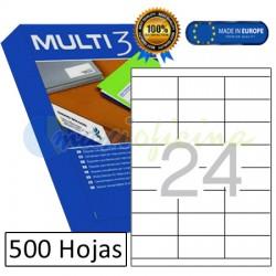 Etiquetas Adhesivas economicas Multi3 70x35mm (10517)