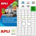 Etiquetas Adhesivas Removibles Apli 38x21,2mm 100h Ref.03052