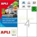 Etiquetas Adhesivas Removibles Apli 105x148mm 100h Ref.03058