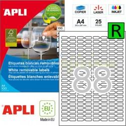 Etiquetas Adhesivas Removibles Apli JOYERIA 45x8mm 25h Ref.10314