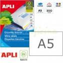 Etiquetas Adhesivas Apli A5 210x148mm 200h Ref.01243