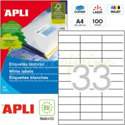 Etiquetas Adhesivas Apli 70 x 25,4mm 100h Ref.01270