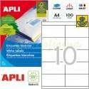 Etiquetas Adhesivas Apli 105 x 57mm 100h Ref.01278