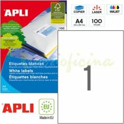 Etiquetas Adhesivas Apli 210 x297mm 100h Ref.01281