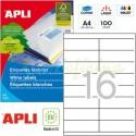 Etiquetas Adhesivas Apli 105 x 35mm 100h Ref.01287