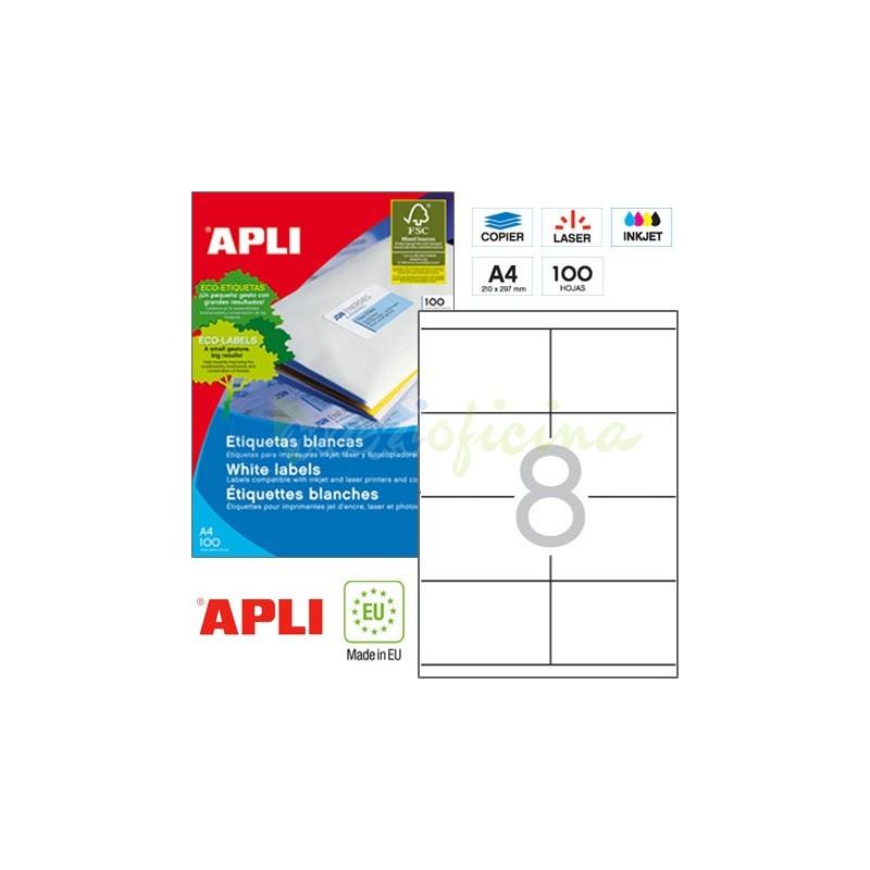 Etiquetas Adhesivas marca Apli 105x70mm Ref 01292