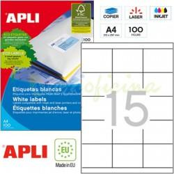 Etiquetas Adhesivas Apli 70 x 50,8mm 100h Ref.01295