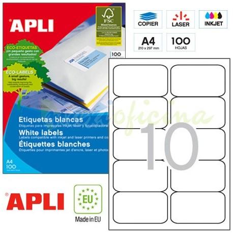 Etiquetas Adhesivas Apli 99,1 x 57mm 100h Ref.02411