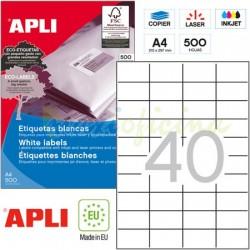 Etiquetas Adhesivas Apli 52,5x29,7mm 500h Ref.01778