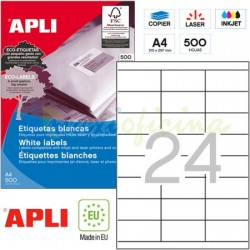 Etiquetas Adhesivas Apli 70x35mm 500h Ref.01782