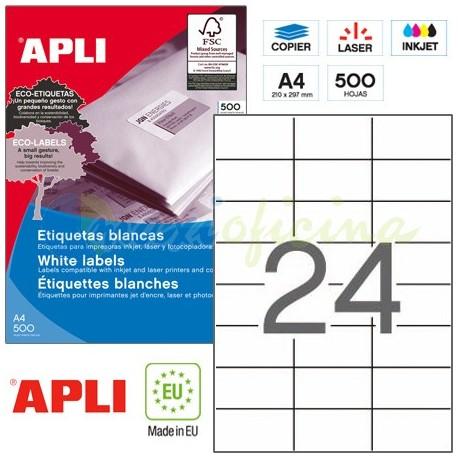 Etiquetas Adhesivas Apli 70x37mm 500h Ref.01783
