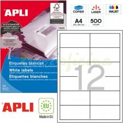 Etiquetas Adhesivas Apli 97x42,4mm 500h Ref.01784