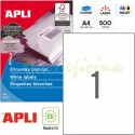 Etiquetas Adhesivas Apli 210x297mm 500h Ref.01788