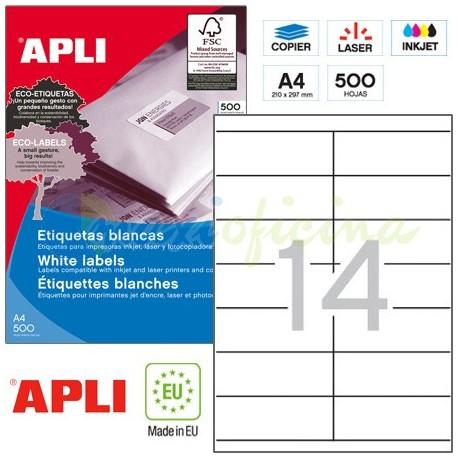 Etiquetas Adhesivas Apli 105x42,4mm 500h Ref.01795
