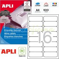 Etiquetas Adhesivas Apli 99,1x34mm 500h Ref.10561