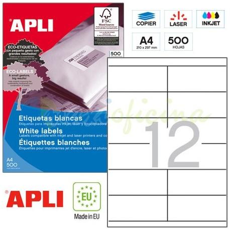 Etiquetas Adhesivas Apli 105x48mm 500h Ref.10563