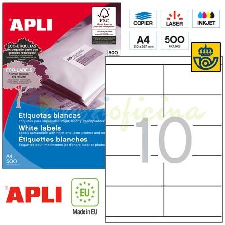 Etiquetas Adhesivas Apli 105x57mm 500h Ref.10564