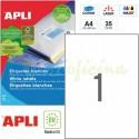 Etiquetas Adhesivas Apli 210X297mm 25h Ref.01215