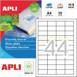 Etiquetas Adhesivas Apli 48,5x25,4mm 25h Ref.10825