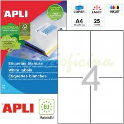 Etiquetas Adhesivas Apli 105x148mm 25h Ref.10827