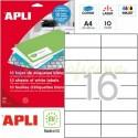 Etiquetas Adhesivas Apli 105x37 mm. 10h. Ref.12922