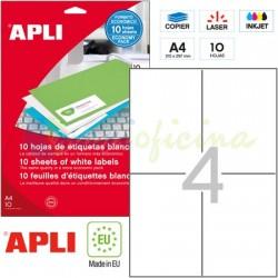 Etiquetas Adhesivas Apli 105x148 mm. 10h. Ref.12919