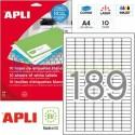 Etiquetas Adhesivas Apli 25,4x10 mm. 10h. Ref.12927