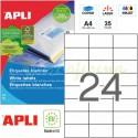 Etiquetas Adhesivas Apli 70X37mm 25h Ref.01212