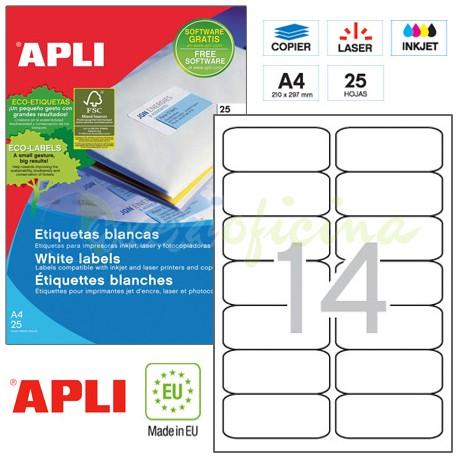 Etiquetas Adhesivas Apli 99,1x38,1mm 25h Ref.01998