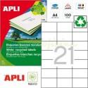 Etiquetas Adhesivas Recicladas Apli 70x42,4mm 100h