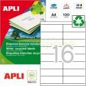 Etiquetas Adhesivas Recicladas Apli 105x35mm 100h