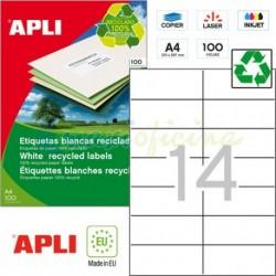 Etiquetas Adhesivas Recicladas Apli 105x42,4mm 100h