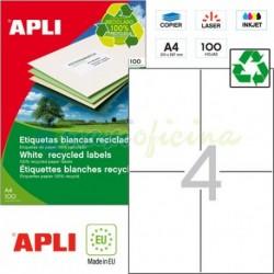 Etiquetas Adhesivas Recicladas Apli 105x148mm 100h