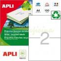 Etiquetas Adhesivas Recicladas Apli 210x148mm 100h