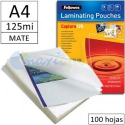 Fundas para Plastificar A4 125 Micras Mate