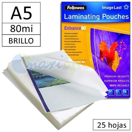 Fundas para Plastificar A5 80 Micras Brillo - Pack 25