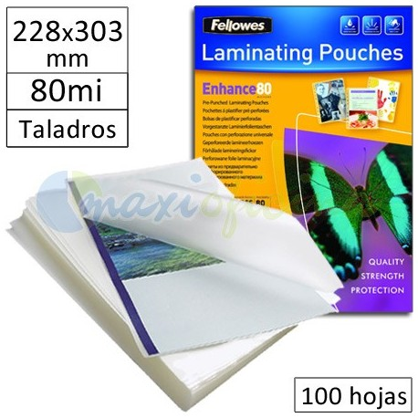 Fundas para Plastificar 228x303mm MultiTaladro