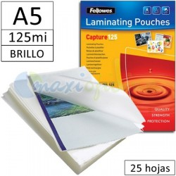 Fundas para Plastificar A5 125 Micras Brillo - Pack 25