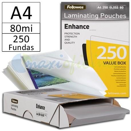 Fundas para Plastificar A4 80 Micras Brillo - Pack Ahorro 250u.