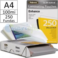 Fundas para Plastificar A4 100 Micras Brillo - Pack Ahorro 250u.